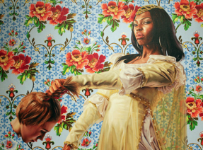 Kehinde Wiley painting of white person decapitated